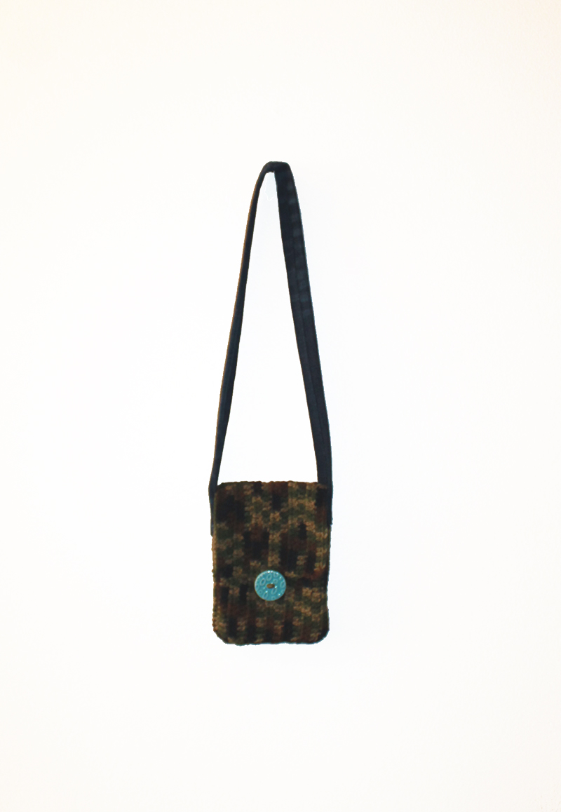 Camo & Denim Purse Hanging