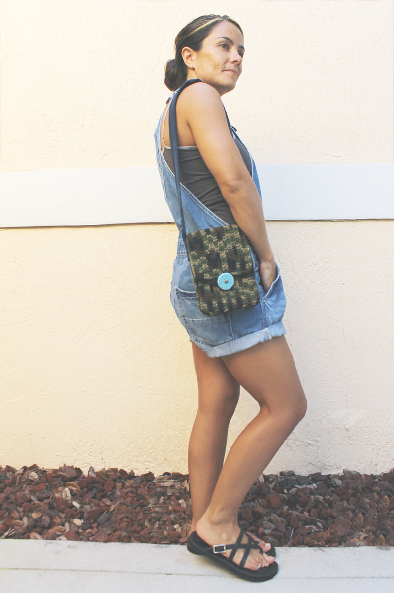 Camo & Denim Purse On