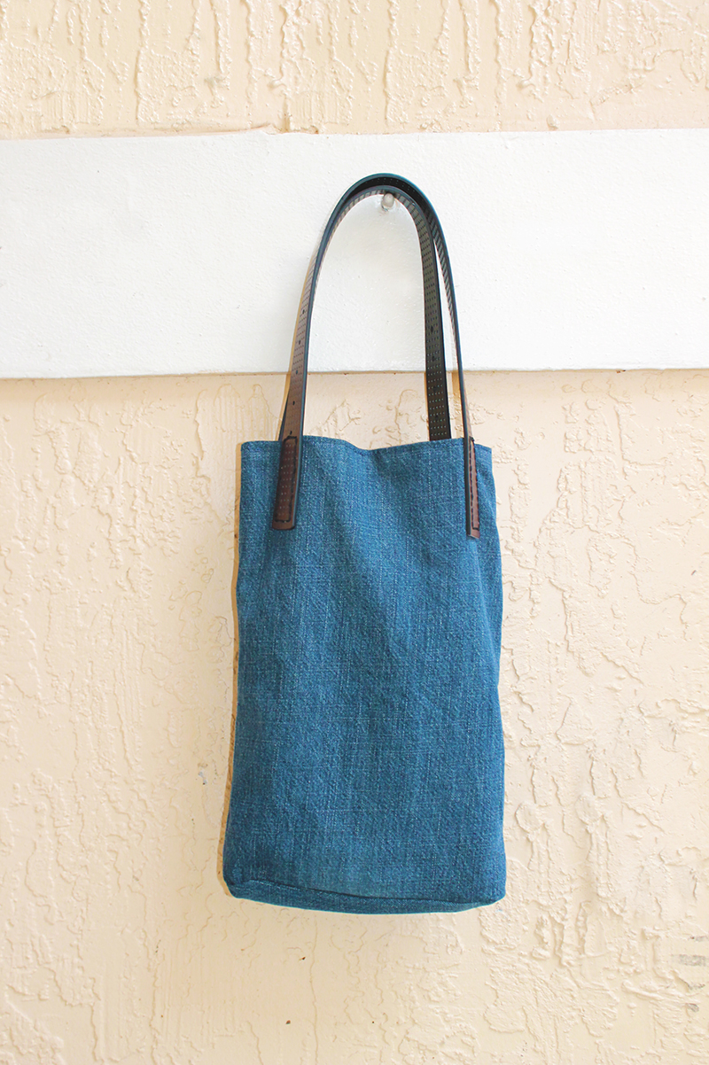 Denim & Leather Purse Hanging