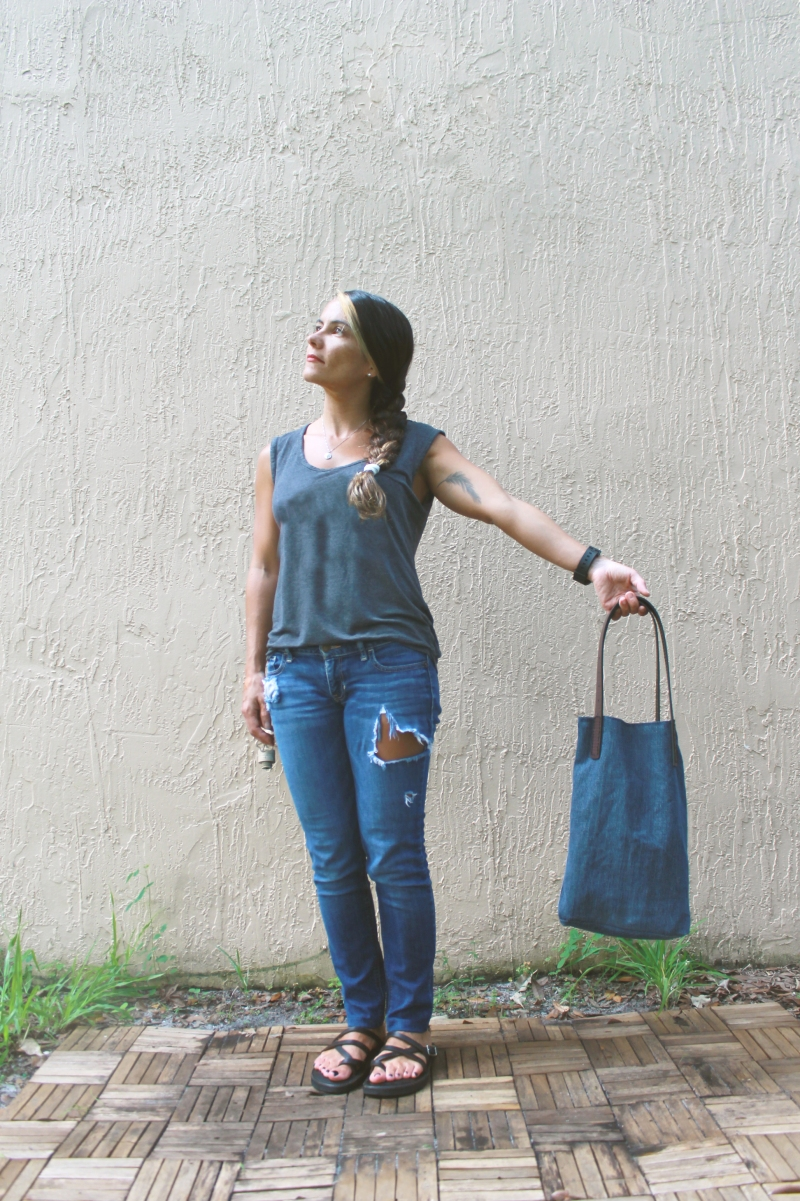 Denim & Leather Purse Hold Out