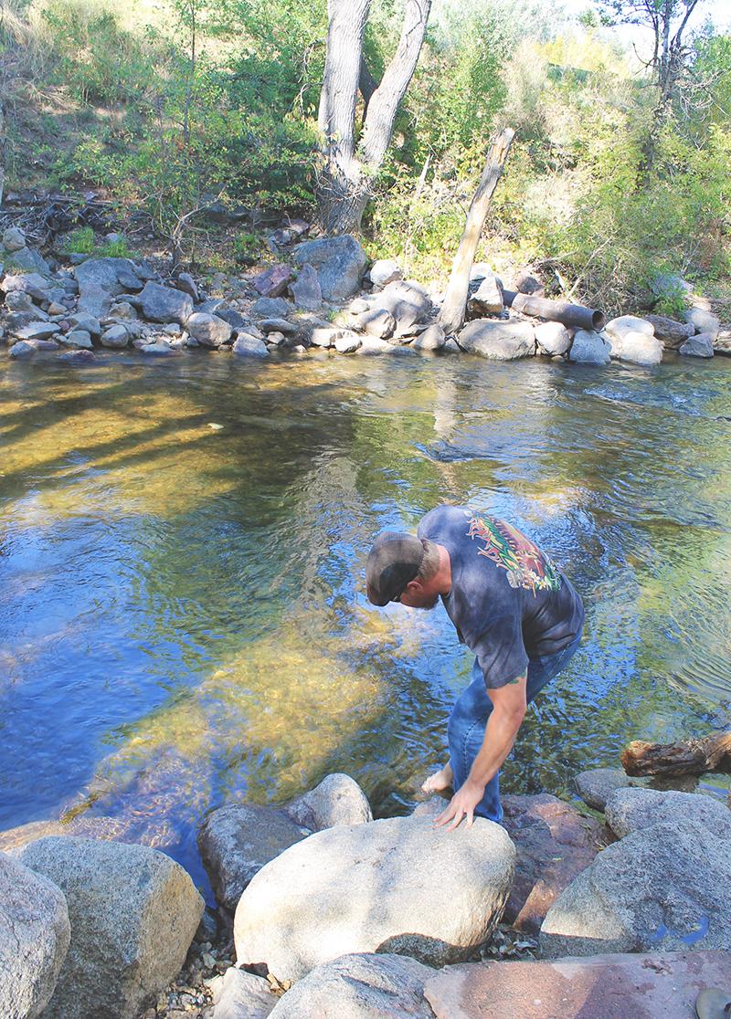 Steve Testing Waters