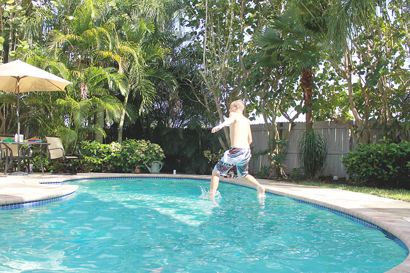 Trey walking on Water