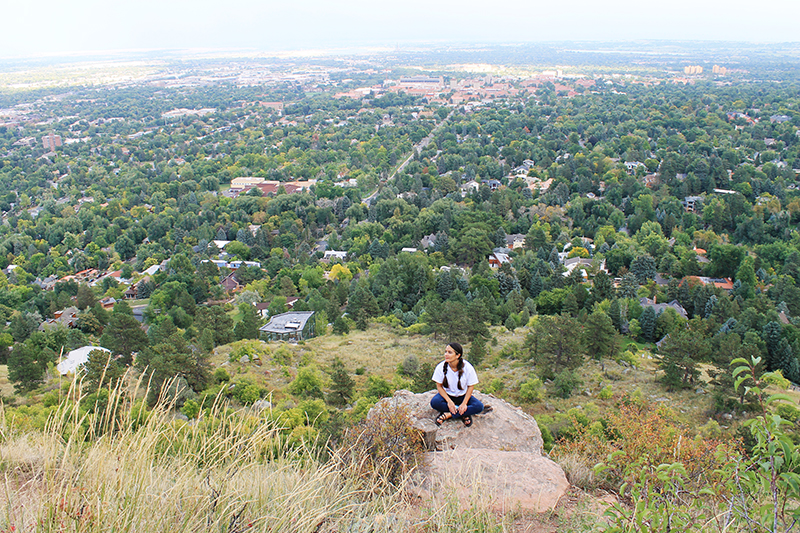 Nell Over Boulder