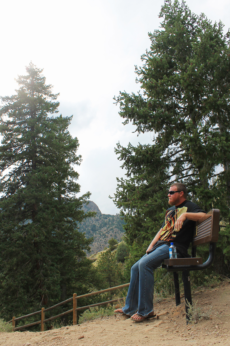 Steve on a Bench