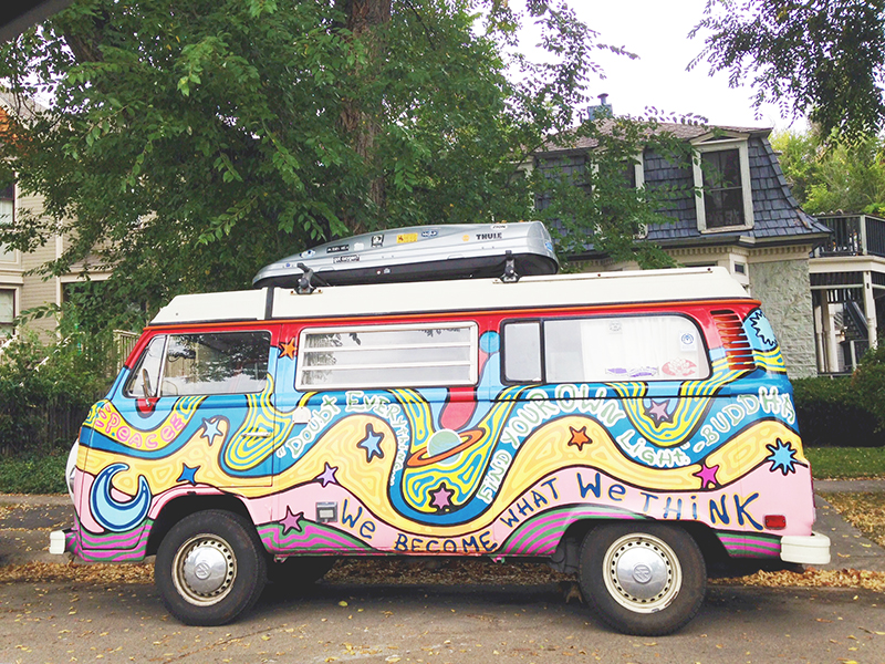 We Become What We Think VW Van