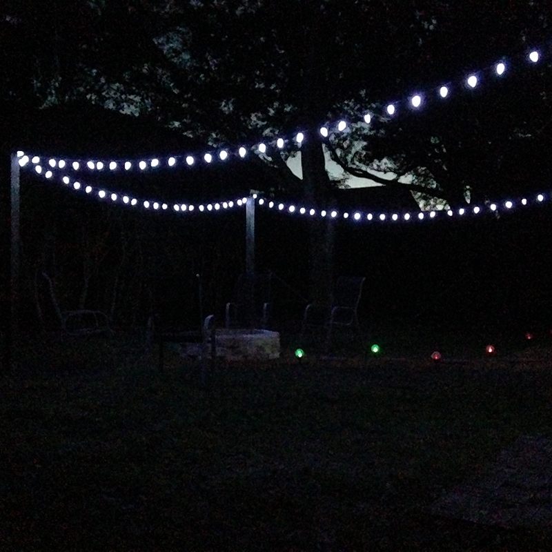 Backyard Lights at Night