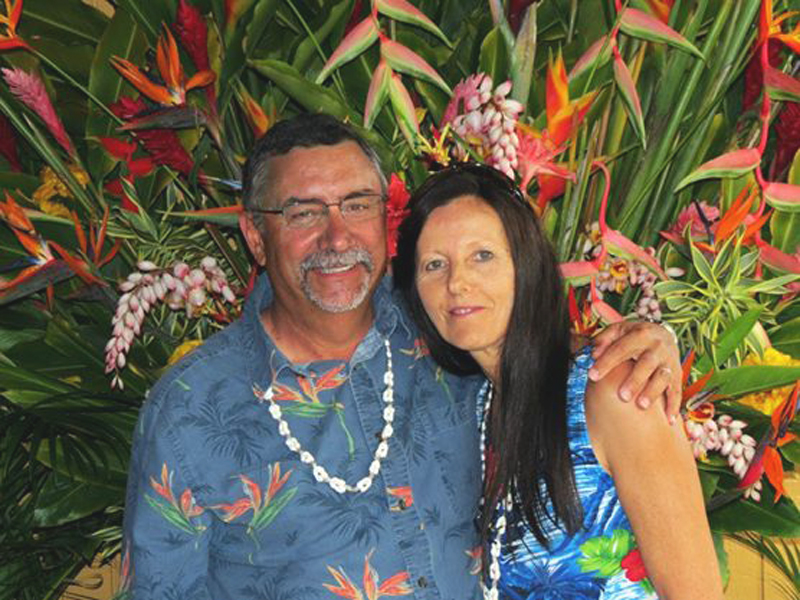 mom and dad luau