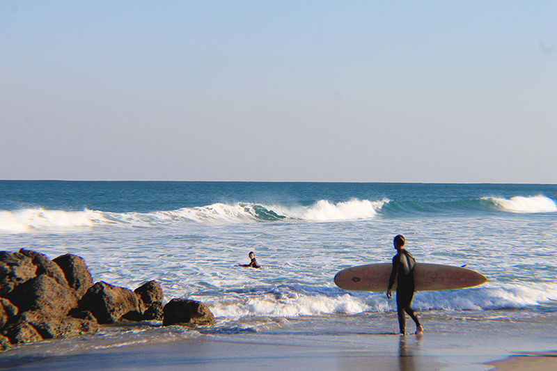 Father Son Surfers