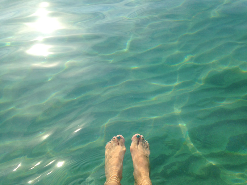 Feet in Clear Water
