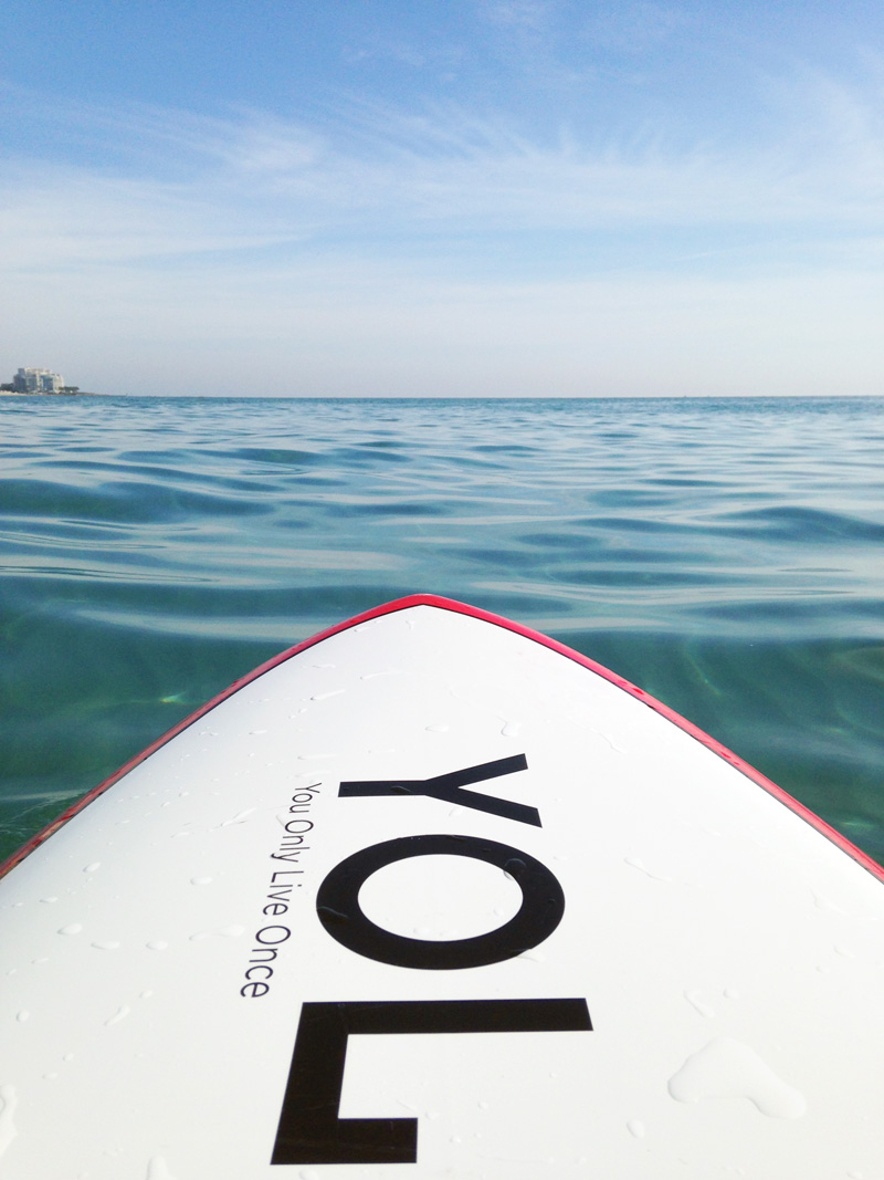 Paddleboard Facing Horizon