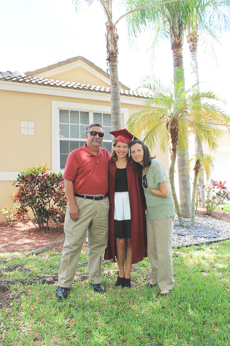 Before Graduation Dee with Nana and Papa