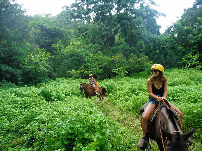 Nell and Dee Riding Horses Rainforest