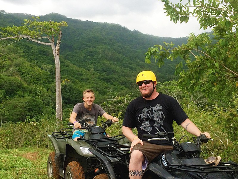 Steve and Trey ATV Top of Mtn