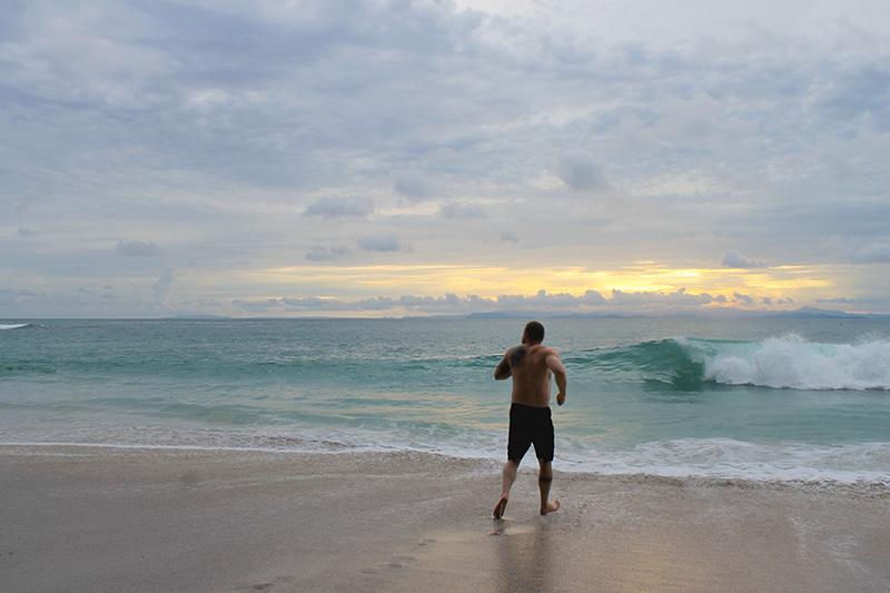 Steve Running into Ocean