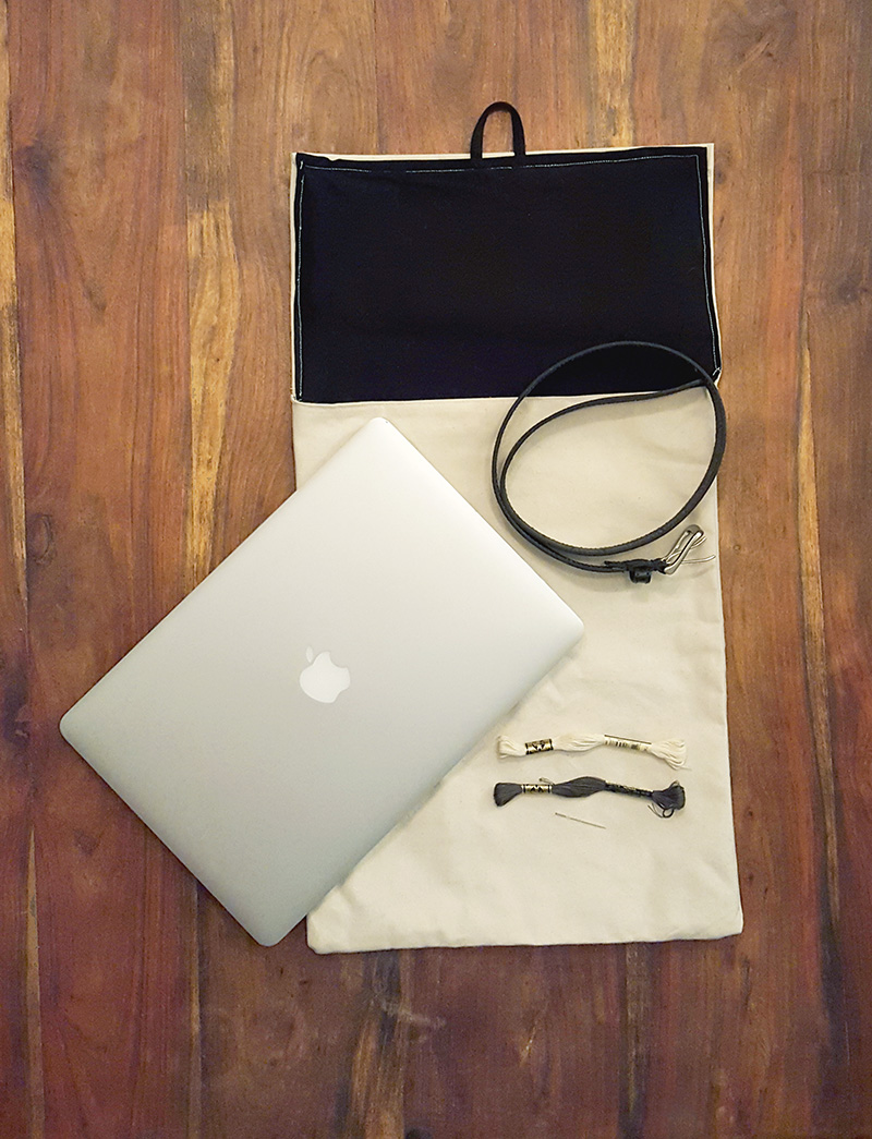Laptop Should Bag with Supplies