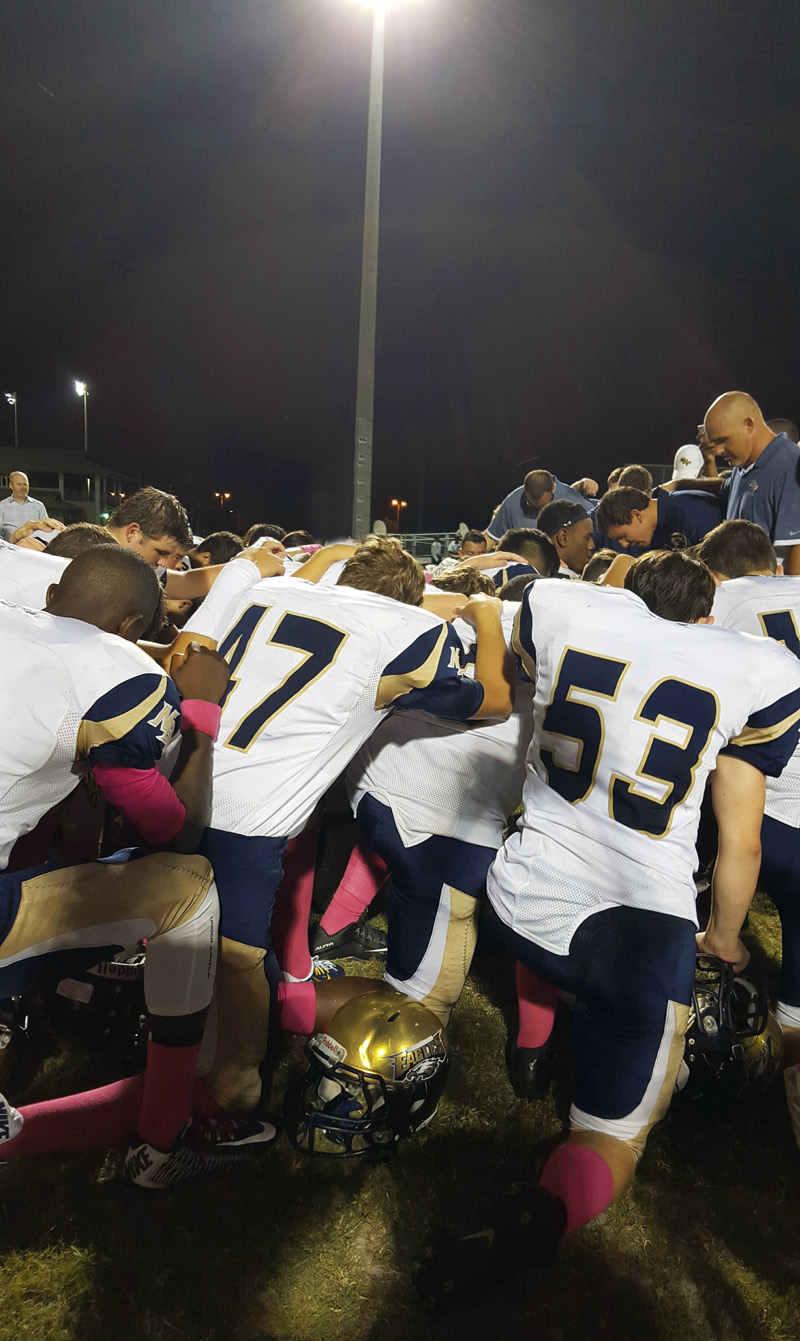 Football Huddle Prayer