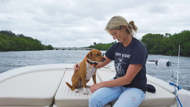 Boat - Joanna and Kona