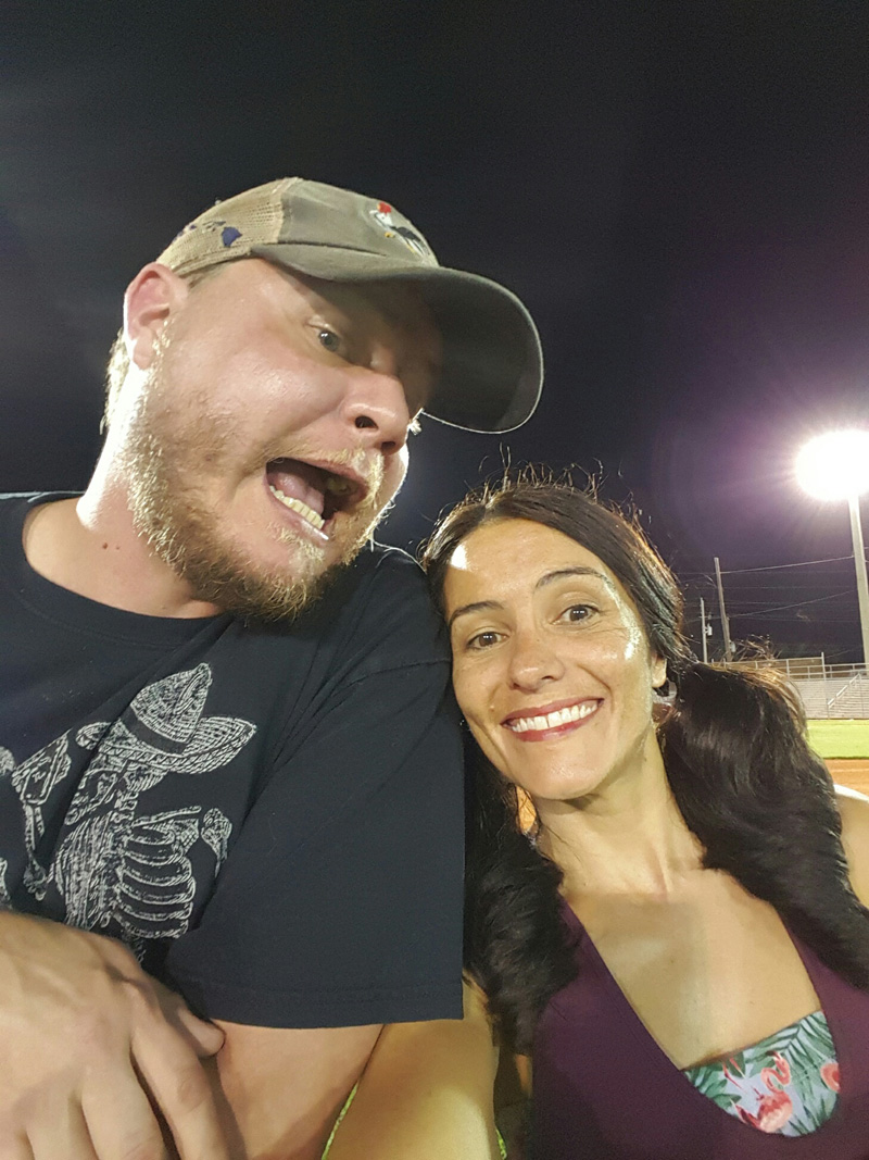 Football Field Selfie Nell and Steve