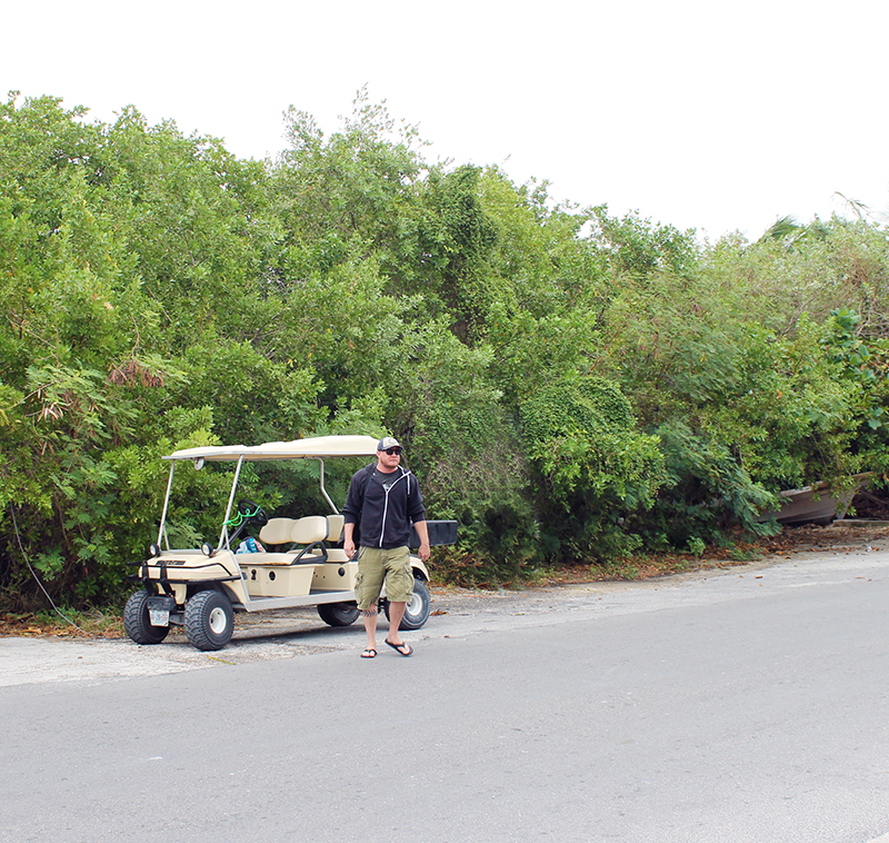 Steve with Golf Cart Small