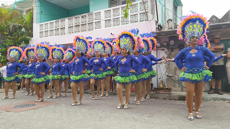 Carnaval Dancers Purple Small