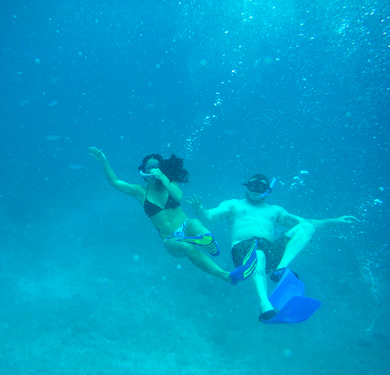 Nell & Steve Underwater Small