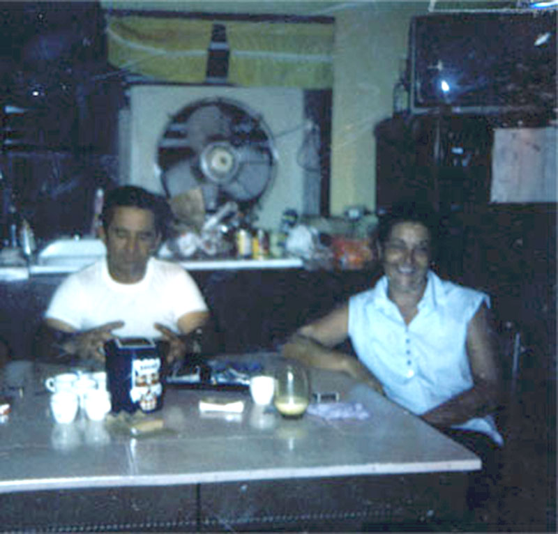 Rose and Earl George at Table