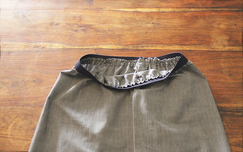 Skirt Sewn Finish Inside