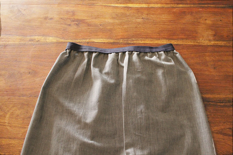 Skirt Sewn Finish Outside