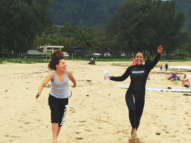 nell and dee skipping kauai