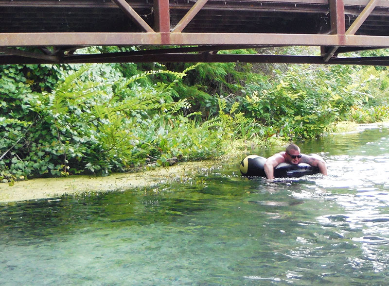 Steve Under Bridge