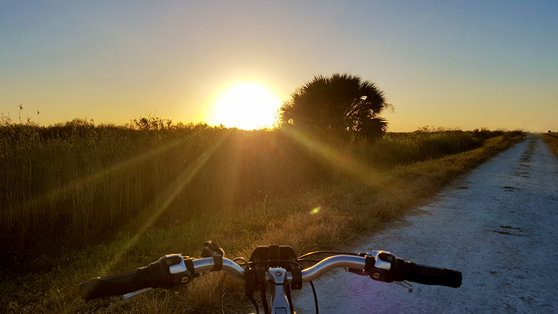 bike-trail-sunset